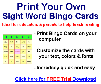 photo about Sight Word Bingo Printable called Sight Term Bingo Playing cards for instructors and dad and mom