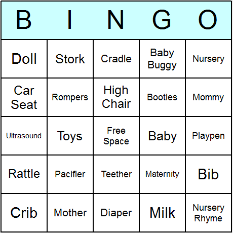 baby shower bingo cards printable bingo activity game and