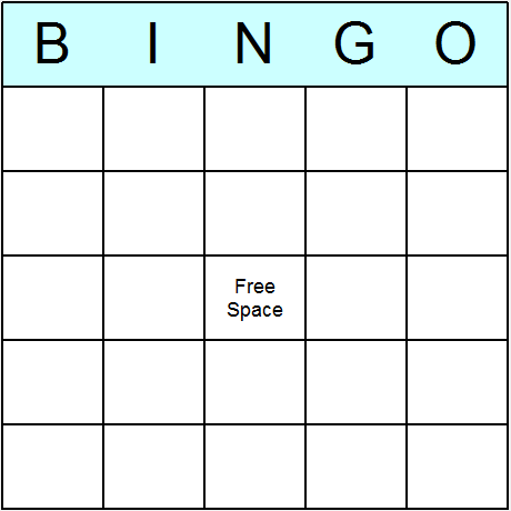 Blank Bingo Cards Printable Bingo Activity Game And Templates