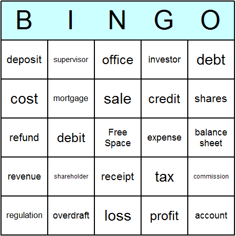 Business & Finance Bingo Card