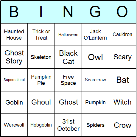 picture relating to Printable Halloween Bingo Card named Halloween Bingo Playing cards - Printable bingo video game, recreation, and