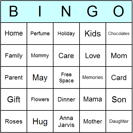picture regarding Free Printable Mother's Day Games for Adults identify Moms Working day Bingo Playing cards - Printable bingo match, sport