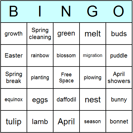photo relating to Spring Bingo Game Printable named Spring Bingo Playing cards - Printable bingo recreation, video game, and