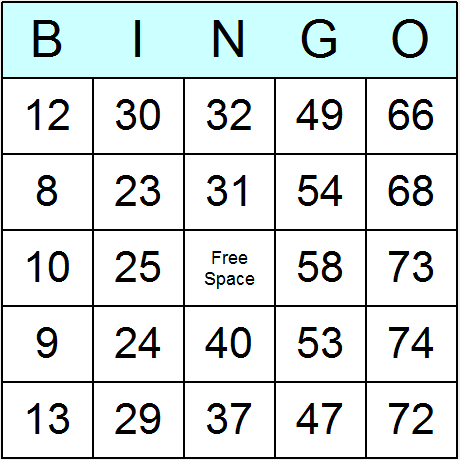 double bingo networking card samples
