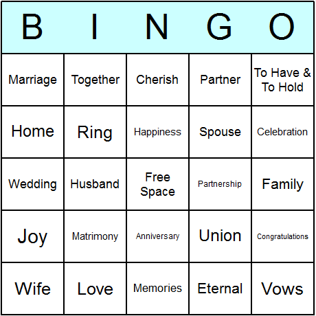 Try The Software FREE Click Here For Download Instructions Creating A Whole Set Of Wedding Anniversary Bingo Cards