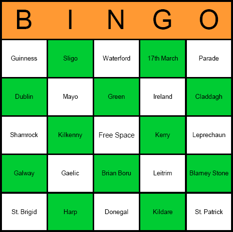 graphic regarding St Patrick Day Puzzles Printable Free named St. Patricks Working day Bingo Playing cards - Absolutely free, printable, and