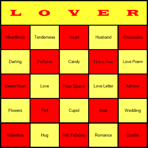 Valentines Day Bingo Cards Free printable and available for – Valentine Bingo Card