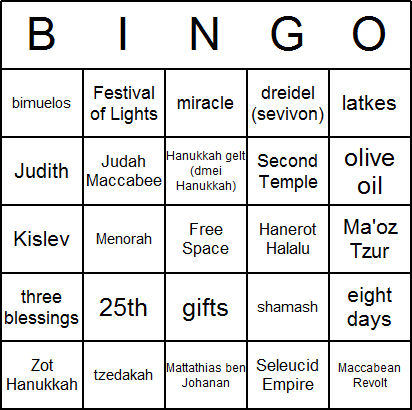 image relating to Printable Hanukkah Card called Hanukkah Bingo Playing cards - No cost, printable, and out there for