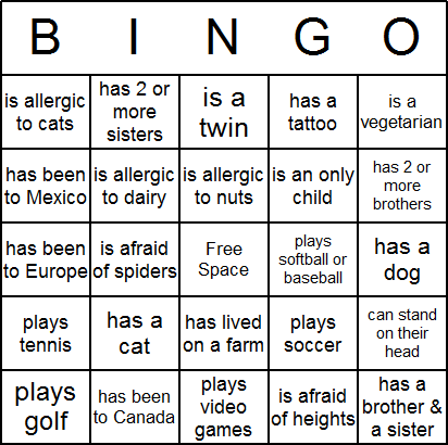 Icebreaker bingo cards free printable and available for try the software free click here for download instructions maxwellsz