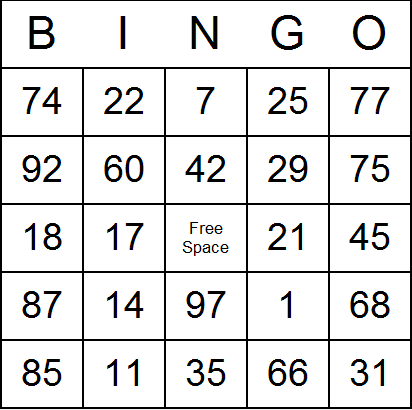 photo about Free Printable Bingo Cards With Numbers referred to as Figures Bingo Playing cards - Cost-free, printable, and accessible for
